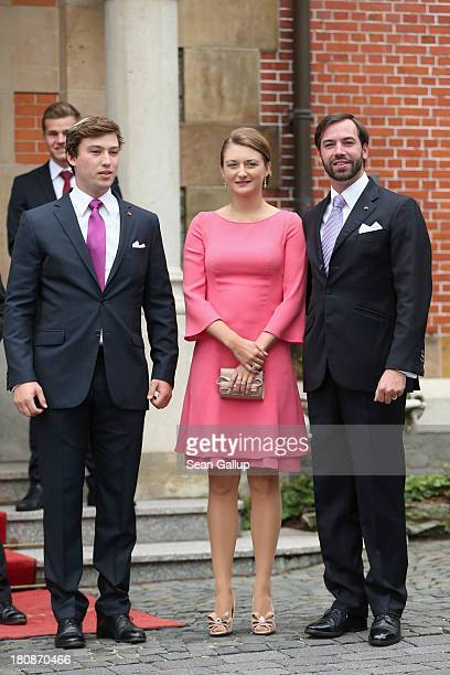 Prince Sebastien of Luxembourg Her Royal Highness Crown Princess Stephanie of Luxembourg and His Royal Highness Crown Prince Guillaume of Luxembourg...
