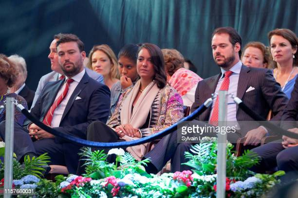 Prince Sebastien of Luxembourg Prince Felix of Luxembourg and Princess Alexandra of Luxembourg celebrate National Day on June 22 2019 in Luxembourg...