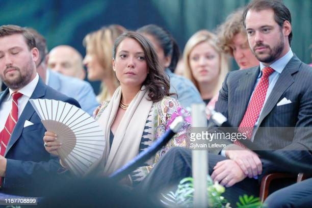 Prince Sebastien of Luxembourg Prince Felix of Luxembourg and Princess Alexandra of Luxembourg celebrate National on June 22 2019 in Luxembourg...