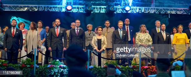 Prince Sebastien of Luxembourg, Princess Alexandra of Luxembourg , Prince Felix of Luxembourg, guest, Grand Duchess Maria Teresa of Luxembourg, Grand...