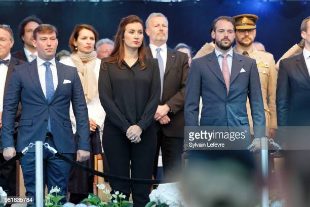 Prince Sebastien of Luxembourg Princess Claire and Prince Felix of Luxembourg celebrate National Day on June 22 2018 in Luxembourg Luxembourg