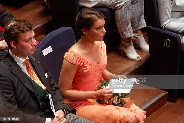 Prince Sebastien Princess Alexandra of Luxembourg celebrate National Day 2 at Philarmonie on June 23 2016 in Luxembourg Luxembourg