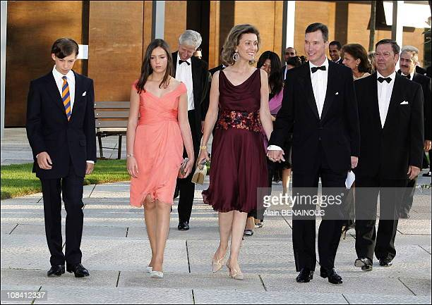 Prince Sebastien, Princess Alexandra Princess Sibilla and Prince Guillaume of Luxembourg The festivities marking the 25th wedding anniversary of...
