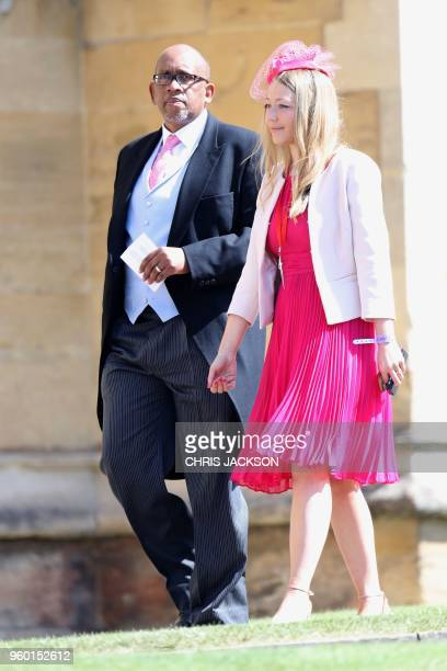 Prince Seeiso of Lesotho arrives for the wedding ceremony of Britain's Prince Harry Duke of Sussex and US actress Meghan Markle at St George's Chapel...