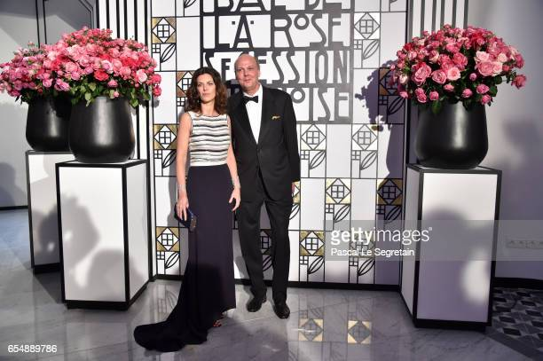 Prince Serge of Yugoslavia and his wife Eleonora of Yugoslavia attend the Rose Ball 2017 To Benefit The Princess Grace Foundation at Sporting...
