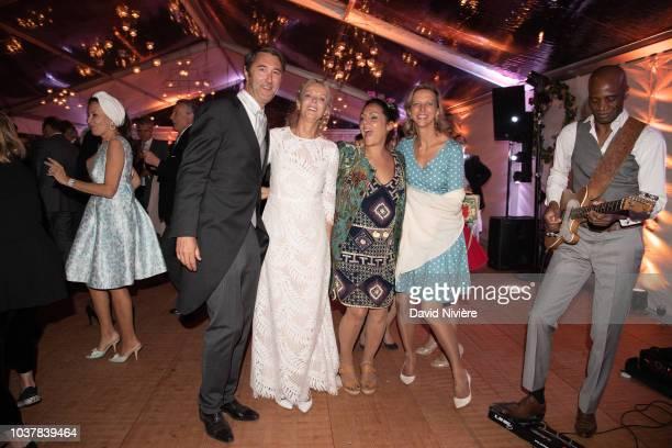 Prince Serge of Yugoslavia Princess Helene of Yugoslavia Princess Hermine Clermont Tonnerre and Princess Amelie of Bourbon Parme dance during the...