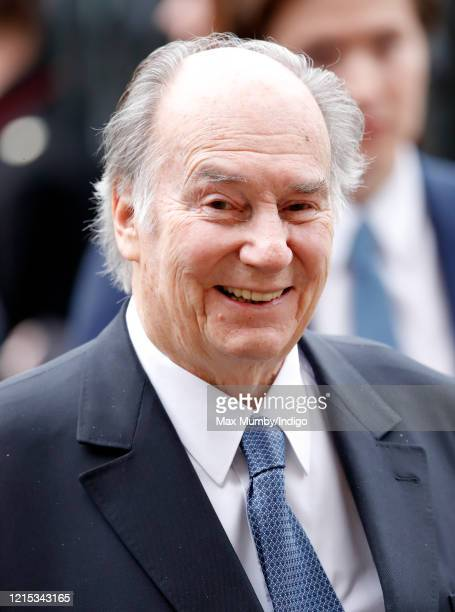 Prince Shah Karim Al Hussaini Aga Khan IV attends the Commonwealth Day Service 2020 at Westminster Abbey on March 9 2020 in London England The...
