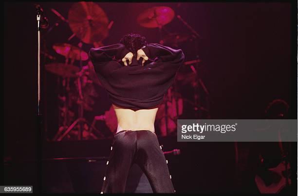 Prince Showing Backside During Concert