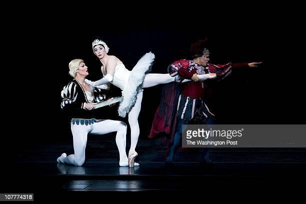 WASHINGTON DC OCTOBER 06 'Prince Siegfried' played by Ashley RomanoffTitwillow 'Odette' played by Laiska Dumbchenko and Von Rothbart is Yuri Smirov...