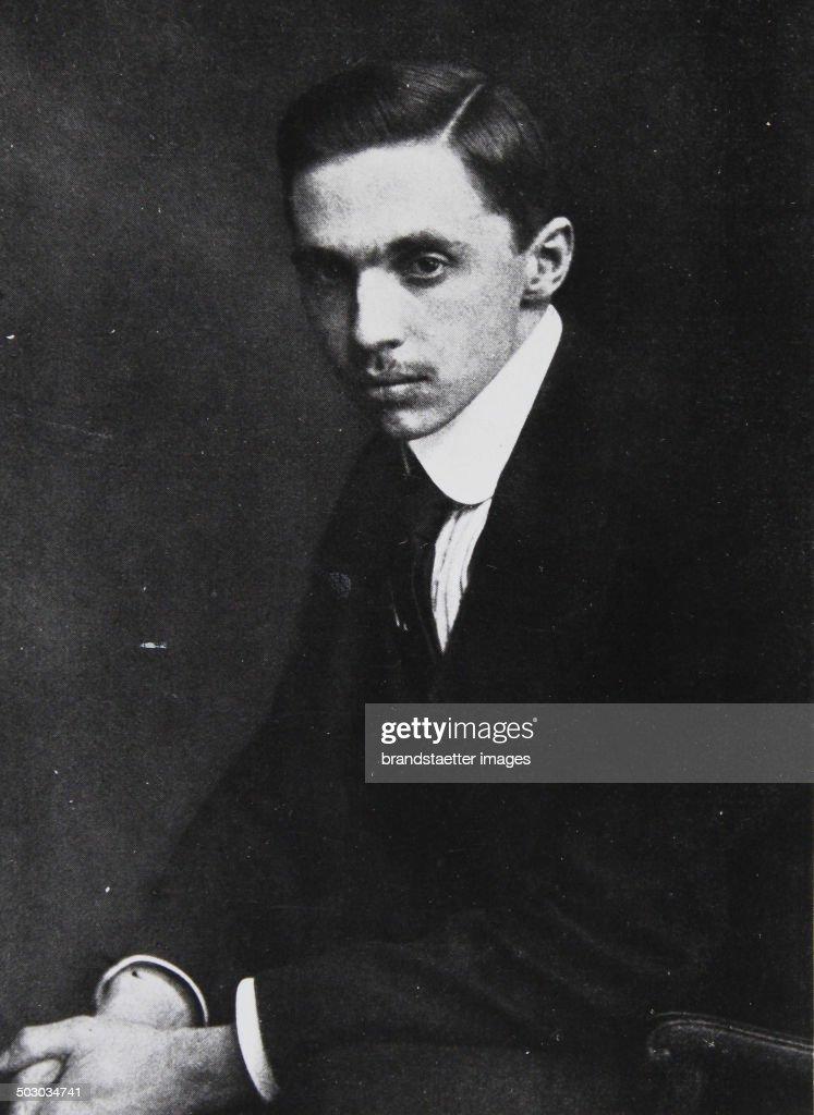 Prince Sixtus Of Bourbon-Parma. Photograph. 1914. : News Photo