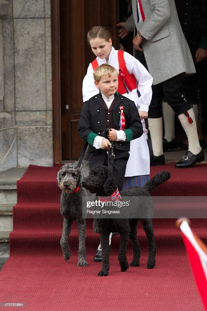Prince Sverre Magnus of Norway and Princess Ingrid Alexandra of Norway celebrate National Day on May 17, 2015 in Asker, Norway.