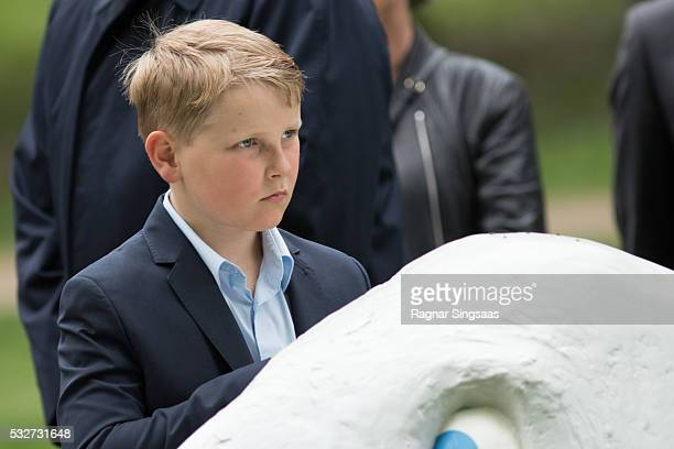 Prince Sverre Magnus of Norway attends the Opening of The Princess Ingrid Alexandra Sculpture Park on May 19 2016 in Oslo Norway