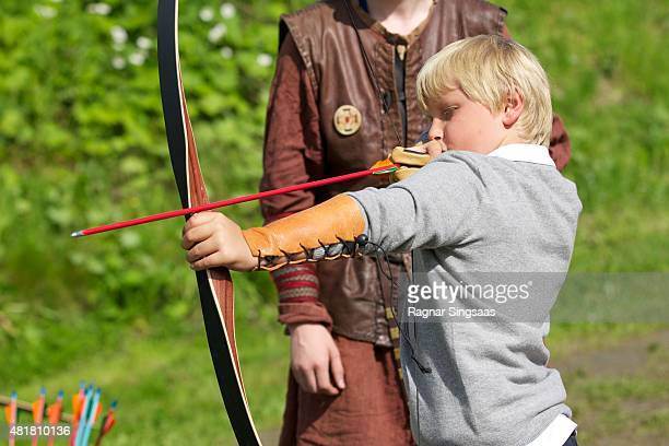 Prince Sverre Magnus of Norway Attends The Saint Olav Festival on July 24 2015 in Stiklestad Norway