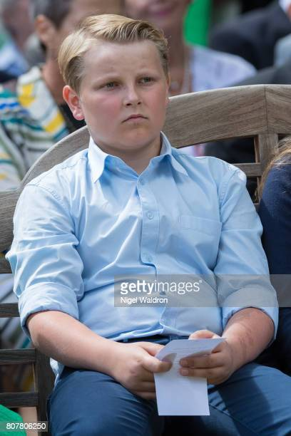 Prince Sverre Magnus of Norway attends the unveiling of Norwegian Trekking Association gift for The Queen of Norway 80th birthday on July 04 2017 in...