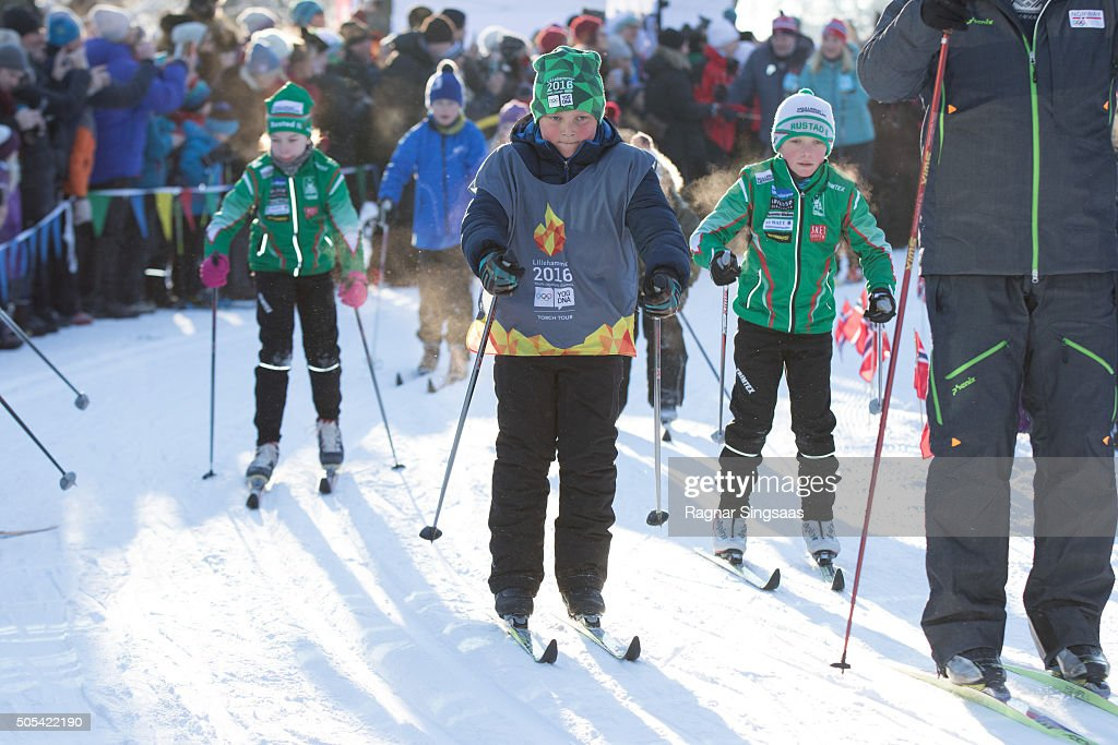 Prince Sverre Magnus of Norway attends Winter Games activities outside the Royal Palace while celebrating the 25th anniversary of King Harald V and Queen Sonja of Norway as monarchs on January 17, 2016 in Oslo, Norway.