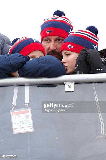 Prince Sverre Magnus of Norway Crown Prince Haakon of Norway and Princess Ingrid Alexandra of Norway attend the FIS Nordic World Ski Championships on...