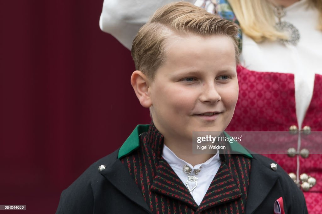 Norwegian Royals Attend The Children's Parade in Asker : News Photo