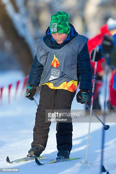Prince Sverre Magnus of Norway in action during the Celebration of the 25th anniversary of King Harald and Queen Sonja of Norway on January 17, 2016...