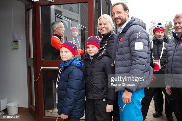 Prince Sverre Magnus of Norway Princess Ingrid Alexandra of Norway Crown Princess MetteMarit of Norway and Crown Prince Haakon of Norway attend the...