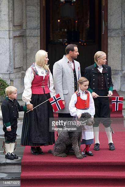Prince Sverre Magnus of Norway Princess MetteMarit of Norway Prince Haakon of Norway Princess Ingrid Alexandra of Norway Marius Borg Hoiby and...