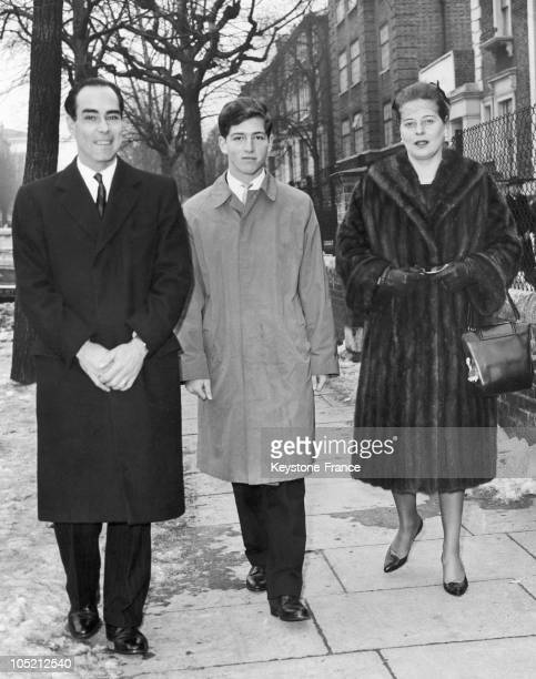 Prince Tomislav His Nephew Prince Alexander Of Yugoslavia And Princess Marguerite Of Bade The Wife Of Tomislav Headed For The Christmas Ceremony At...