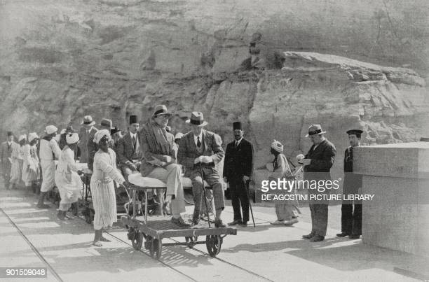Prince Umberto of Savoy visiting the Aswan dam on the Nile Egypt from L'Illustrazione Italiana Year LV No 9 February 26 1928