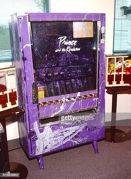 A Prince vending machine inside Paisley Park circa 1990 at Paisley Park in Chanhassen Minnesota