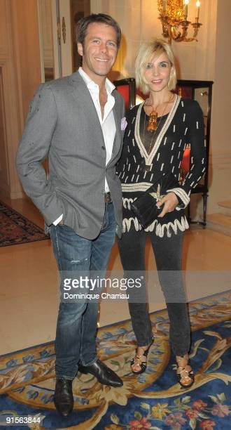 Prince Victor Emmanuel de Savoie and his Wife French Actress Clotilde Courau attend the launch Of New Jewellery Collection By Gaia Repossi And...