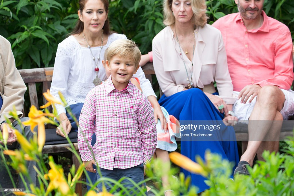 Prince Vincent of Denmark attend the annual summer Photocall for The Danish Royal Family at Grasten Castle on July 25, 2015 in Grasten, Denmark.