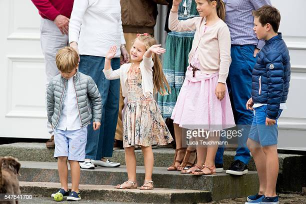 Prince Vincent of Denmark, Princess Josephine of Denmark, Princess Isabella of Denmark and Prince Christian of Denmark are seen during the annual...