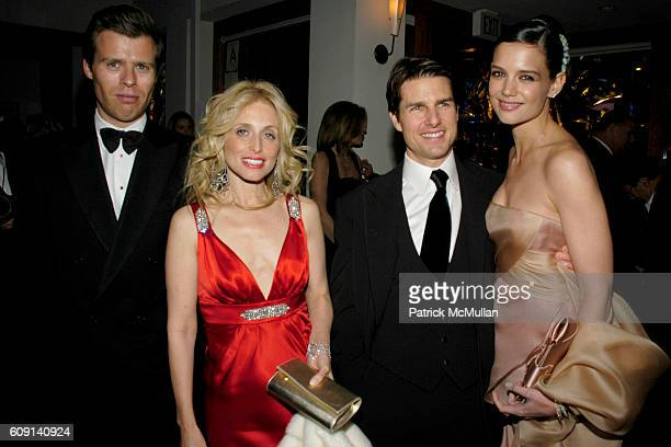 Prince Wenceslas of Lichtenstein Pia Getty Tom Cruise and Katie Holmes attend VANITY FAIR Oscar Party at Morton's on February 25 2007 in Los Angeles...