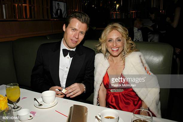 Prince Wenzeslaus of Liechtenstein and Pia Getty attend VANITY FAIR Oscar Party at Morton's on February 25 2007 in Los Angeles CA