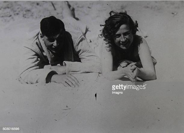 Prince Wilhelm of Prussia son of Crown Prince Wilhelm of Prussia and his bride Dorothea von Salviati during the honeymoon on Norderney 1933 Photograph