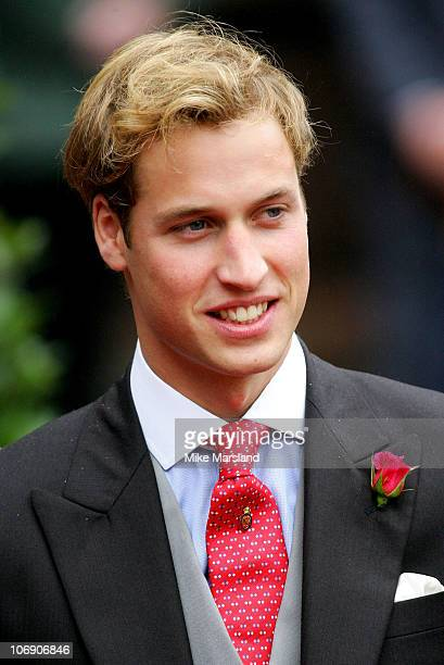 Prince Willaim at the wedding of Lady Tamara the eldest daughter of The Duke and Duchess of Westminster and Edward van Cutsem at Chester Cathedral on...