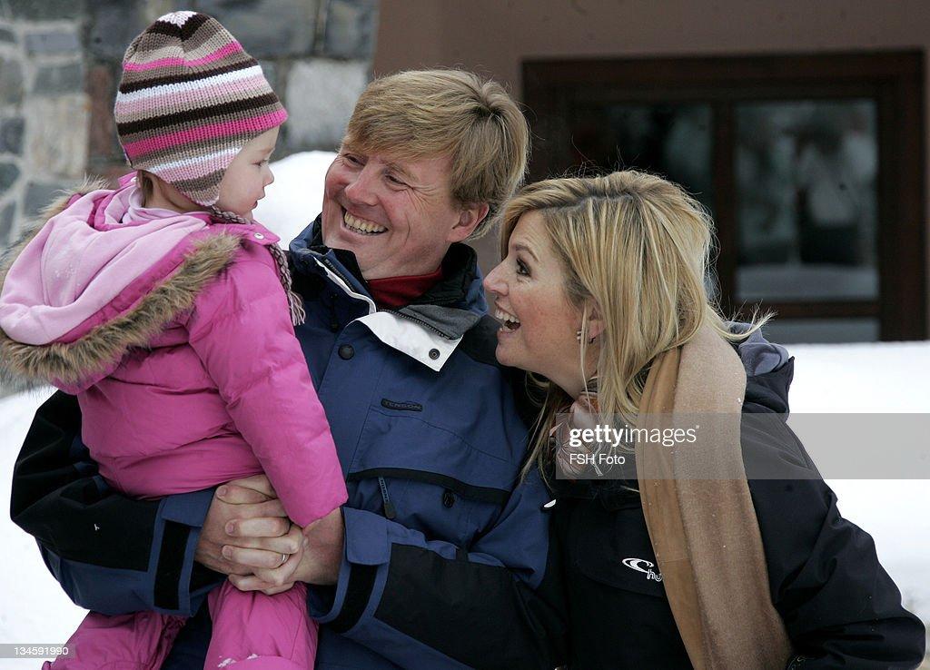 The Dutch Royal Family's Ski Holiday - February 11, 2007 : News Photo