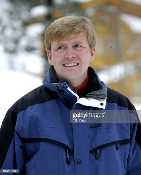 Prince Willem Alexander during The Dutch Royal Family's Ski Holiday - February 11, 2007 in Lech, Austria.