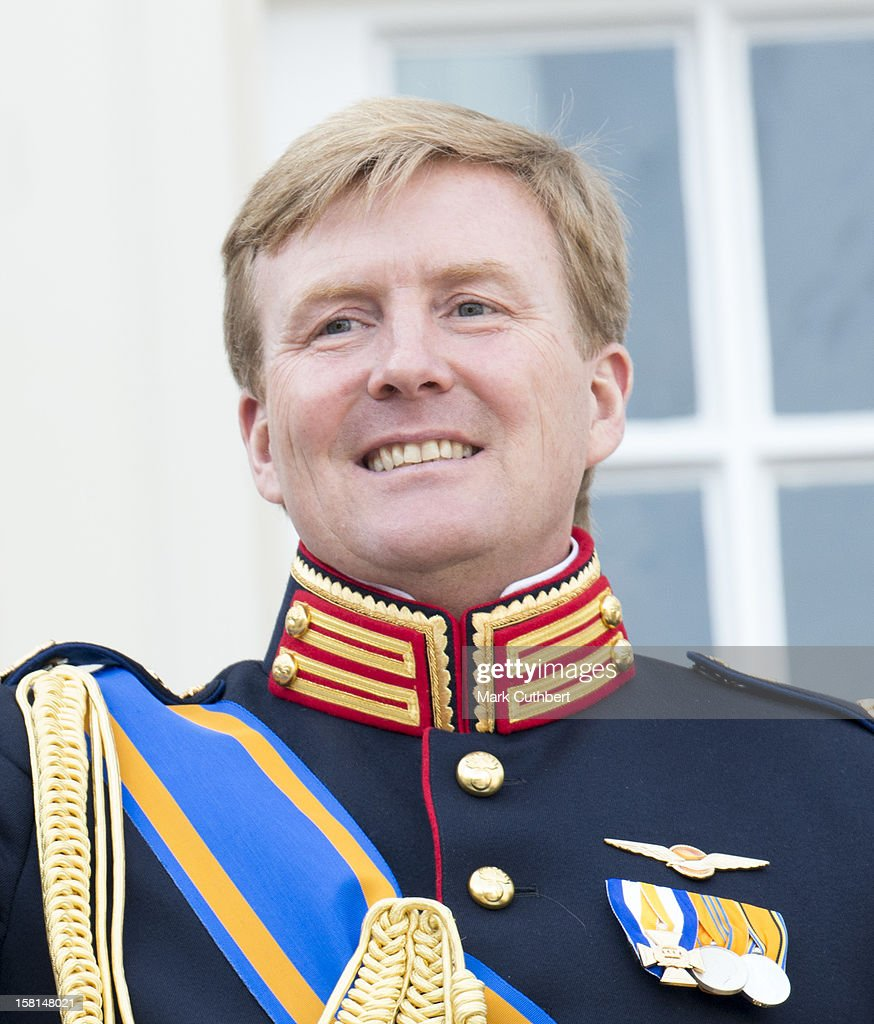 Prince Willem Alexander Of Netherlands On The Balcony During Princes Day At The Noordeinde Palace In Den Haag, Holland.