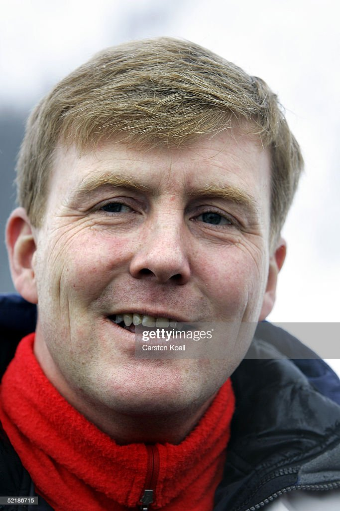 Prince Willem Alexander of the Dutch Royal Family pose at a photocall during their winter holiday at Lech on June 5, 2005 in Lech, Austria.