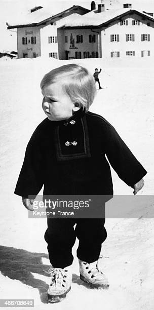 Prince Willem Alexander on holiday In Lech on March 10 1969 in Lech Austria