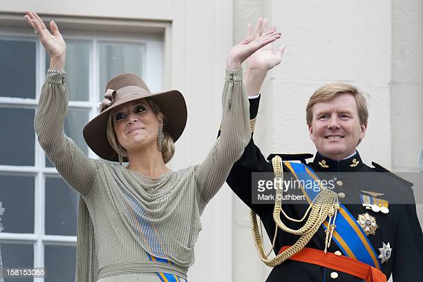 Prince Willem And Princess Maxima Of The Netherlands At Princes Day At The Noordeinde Palace In Den Haag Netherlands
