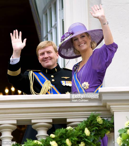 Prince Willem Of Holland And Princess Maxima Of Holland At Noordeinde Palace In Den Haag During The Prince'S Day Celebrations.