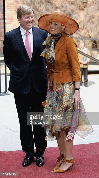 Prince Willem-Alexander and of the Netherlands and Princess Maxima of the Netherlands arrives at the Parliment's Lunch at City Hall to celebrate his...