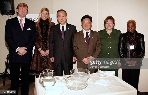 Prince WillemAlexander Prince of Orange Princess Maxima of the Netherlands UN Secretary General Ban Kimoon UN UnderSecretaryGeneral of Econimic and...