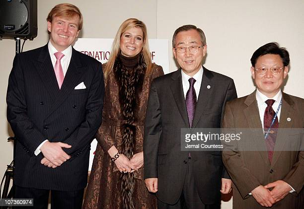 Prince WillemAlexander Prince of Orange Princess Maxima of the Netherlands UN Secretary General Ban Kimoon and UN UnderSecretaryGeneral of Econimic...