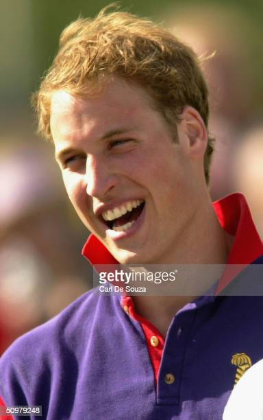 Prince William after playing for the Highgrove team against Graff Capital in the Calcot Manor Hotel cup at Beaufort Polo Club Gloucestershire on June...