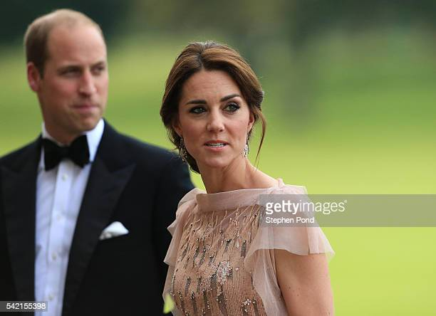 Prince William and Catherine, Duchess of Cambridge attend a gala dinner in support of East Anglia's Children's Hospices' nook appeal at Houghton Hall...