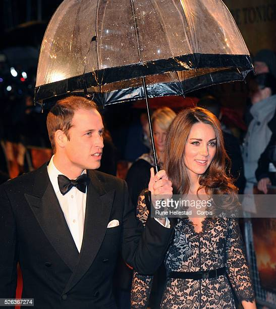 "Prince William and Catherine Duchess Of Cambridge attend the premiere of ""War Horse"" at Odeon, Leicester Square."