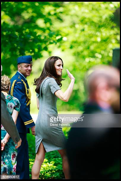 Prince William and Catherine Duchess of Cambridge plant an Eastern Hemlock tree at the Royal Grove area of Rideau Hall the official residence of the...