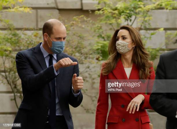 Prince William and Catherine Duchess of Cambridge walk together during their visit to St Bartholomew's Hospital in London to mark the launch of the...