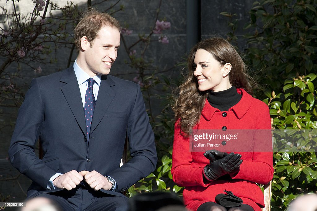 Prince William And Kate Middleton Visit St Andrews : News Photo